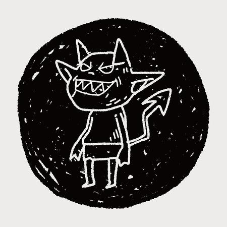 devilish: devil doodle Illustration