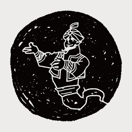 jinn: aladdin doodle Illustration