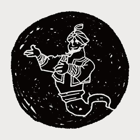 aladdin doodle Illustration