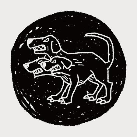 headed: Cerberus doodle