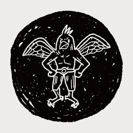 griffin doodle Vector