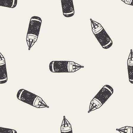 sandbag doodle seamless pattern background