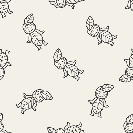 elf's: elf doodle seamless pattern background