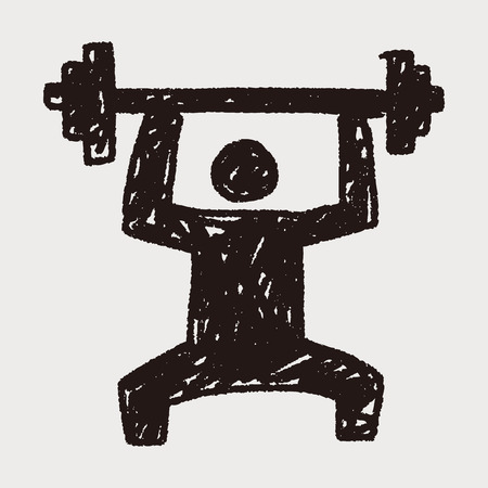 weightlifter: weightlifting doodle