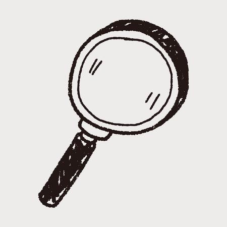 magnifier glass: lupa garabato
