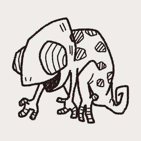 chameleon: chameleon doodle