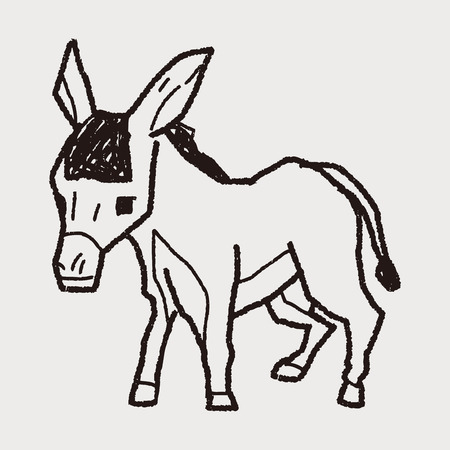 donkey doodle Vector