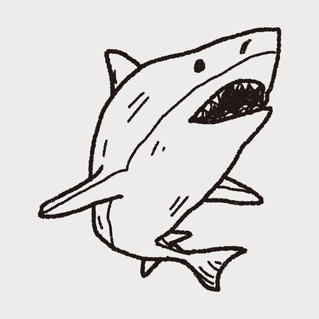 shark: shark doodle Illustration