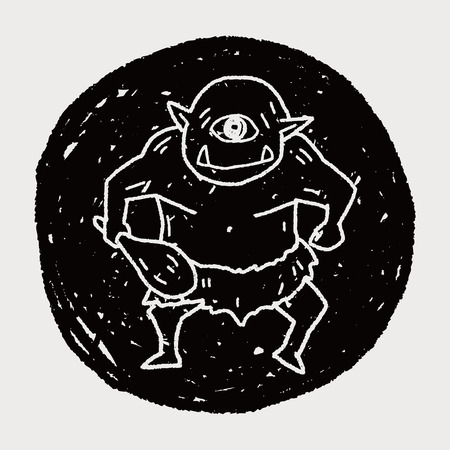 david and goliath: giant ogre doodle