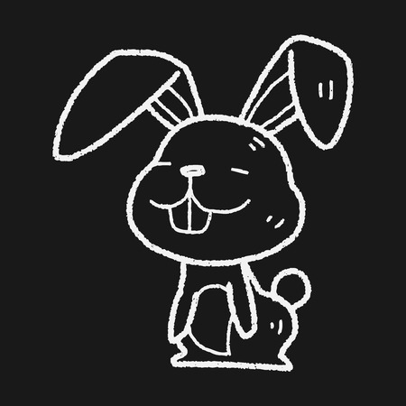 asian bunny: rabbit doodle