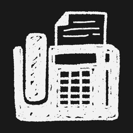 fax machine: Doodle Fax machine
