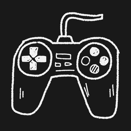 game controller doodle Illustration