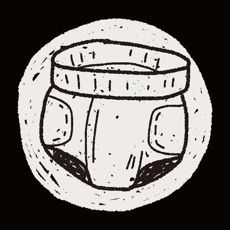 diaper: diaper doodle Illustration