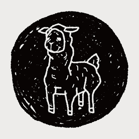 llama doodle Vector