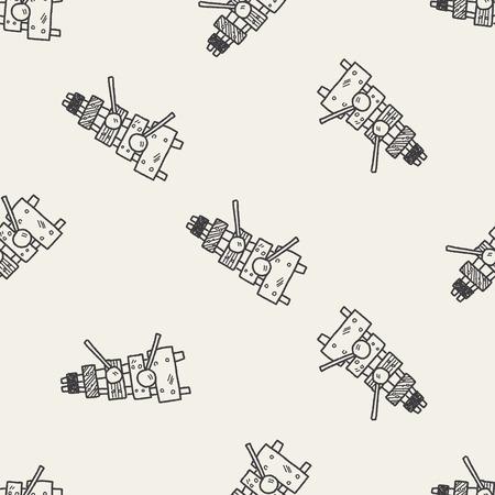 xilofono: Doodle xil�fono fondo sin patr�n Vectores