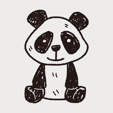 oso panda: doodle de panda