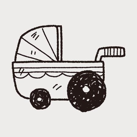 carro del bebé del doodle
