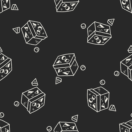 toy block: block toy doodle seamless pattern background