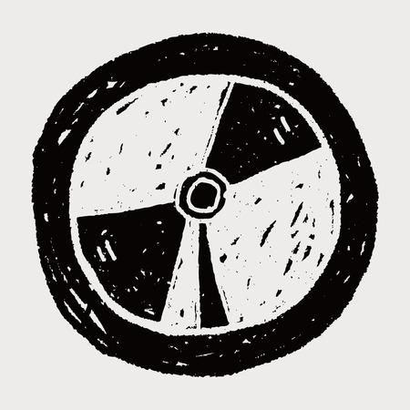 cd case: dvd doodle Illustration