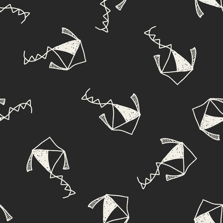 kite: Kite doodle seamless pattern background