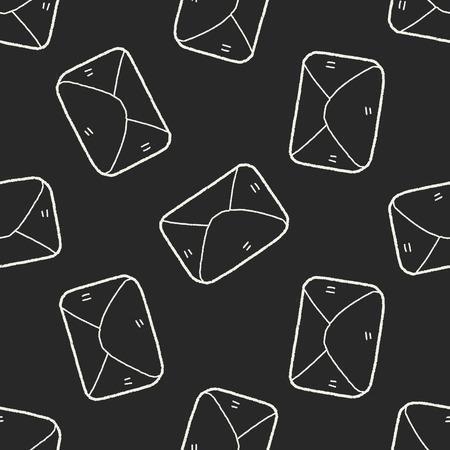 send mail: doodle send mail seamless pattern background Illustration