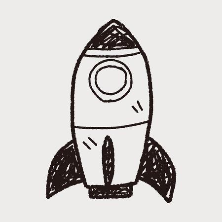 cohetes: doodle de cohete