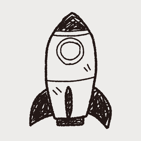 ship sign: rocket doodle