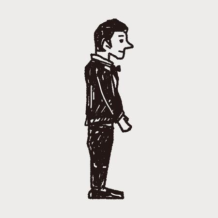dressy: doodle del novio