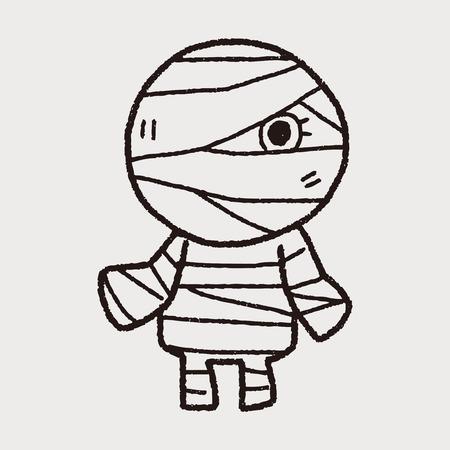 mummy: Mummy doodle