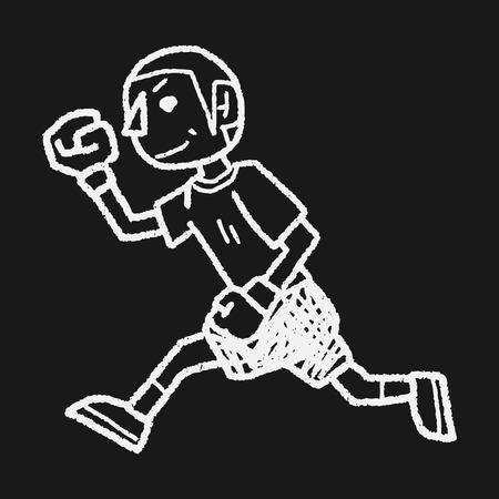 running doodle Vector