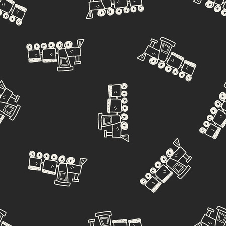 toy train: toy train doodle seamless pattern background Illustration