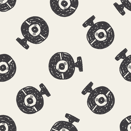 ccd: ccd camera doodle seamless pattern background Illustration