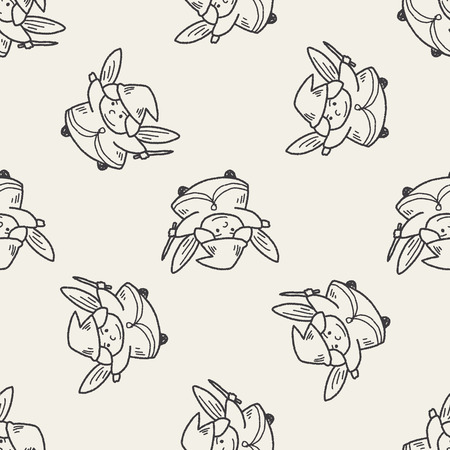 fairy: fairy doodle seamless pattern background