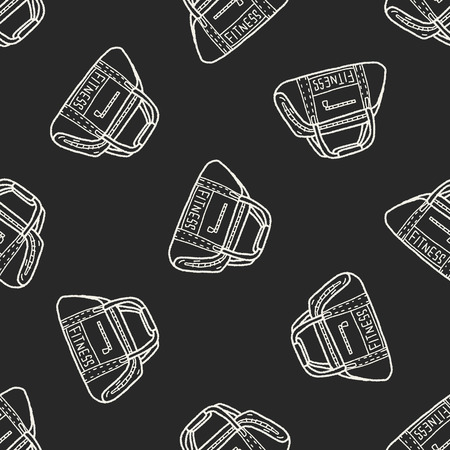 duffle: sport bag doodle seamless pattern background