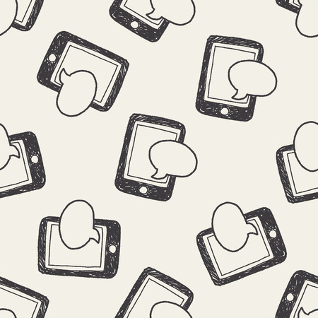 sms: sms doodle seamless pattern background Illustration