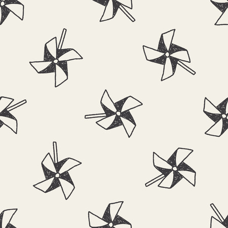 wind mill toy: windmill toy doodle seamless pattern background