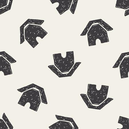 keywords backdrop: Doodle Home seamless pattern background