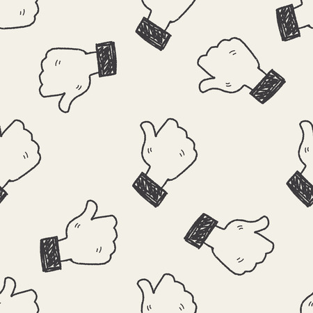 like: Doodle Like seamless pattern background