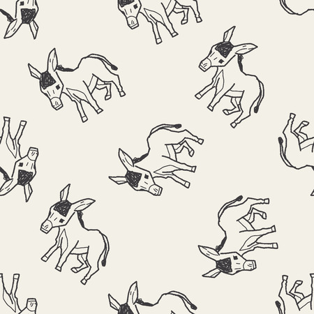 ass fun: donkey doodle seamless pattern background