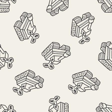 estrellas  de militares: juguete del doodle tanque patrón de fondo sin fisuras