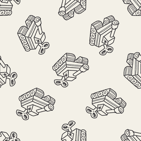 star Wars: toy tank doodle seamless pattern background