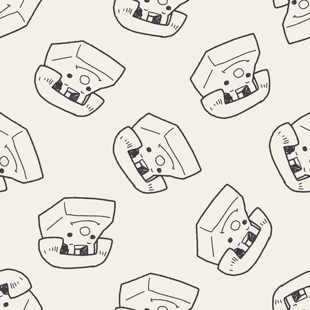 toy phone: toy phone doodle seamless pattern background
