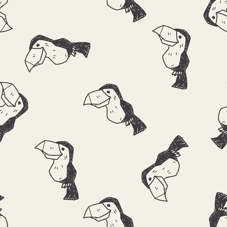 tucan: toucan doodle seamless pattern background