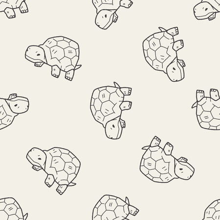 tortoise: tortoise doodle seamless pattern background Illustration