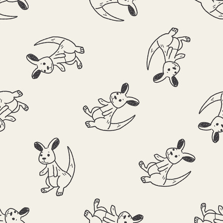 kangaroo: kangaroo doodle seamless pattern background