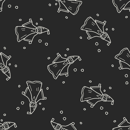 mage: wizard doodle seamless pattern background Illustration