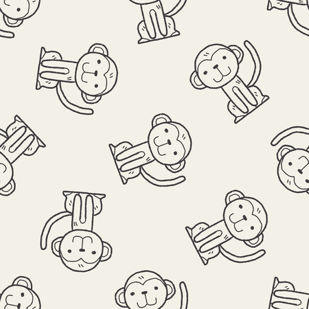 monkey face: monkey doodle seamless pattern background