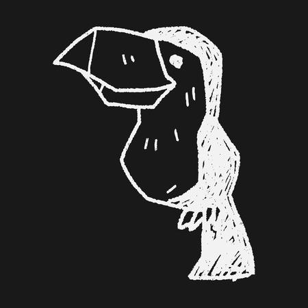toucan doodle Vector