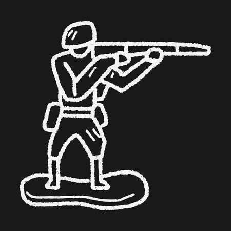 plastic soldier: toy soldier doodle