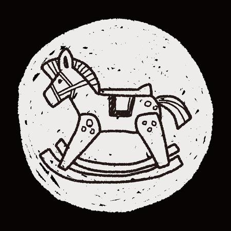schommelpaard: hobbelpaard doodle